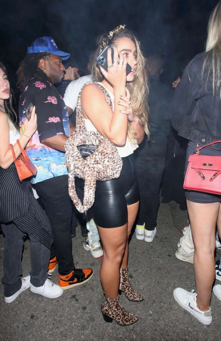 Sommer Ray Candids In Shorts At Hyde In Hollywood