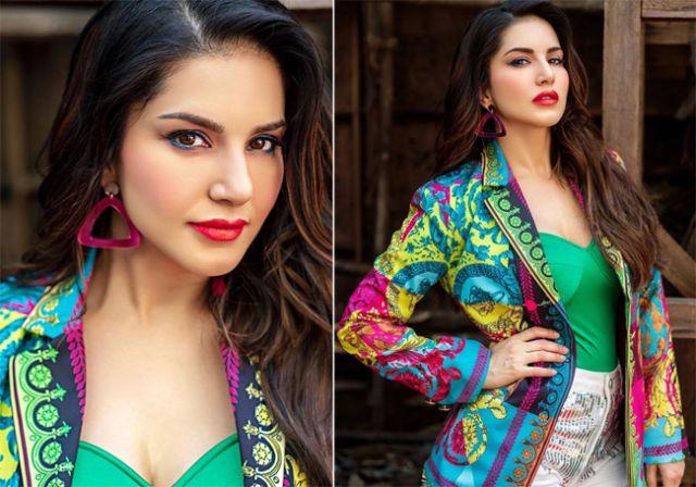 Sunny Leone in colourful dress