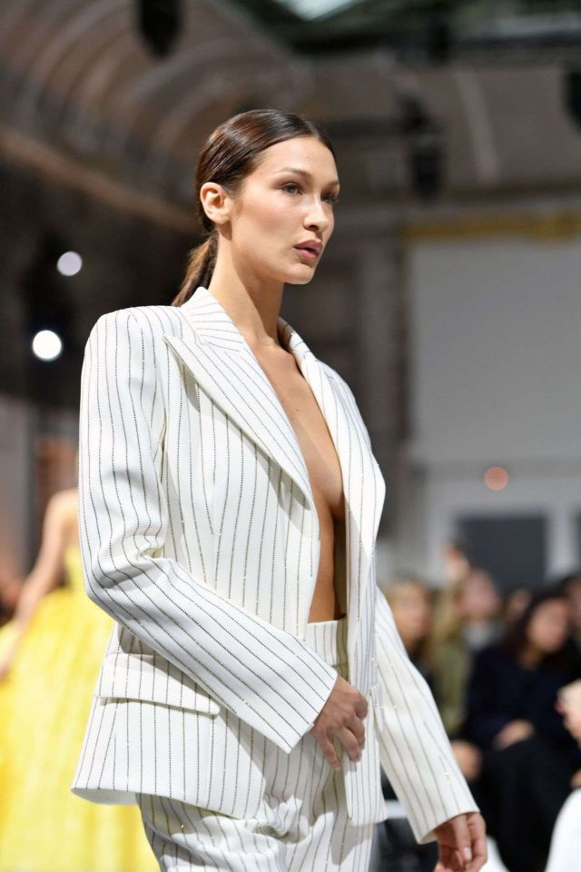 Stylish Bella Hadid Walks Boldly At The Alexandre Vauthier Haute Couture Spring/Summer 2020 Fashion Show