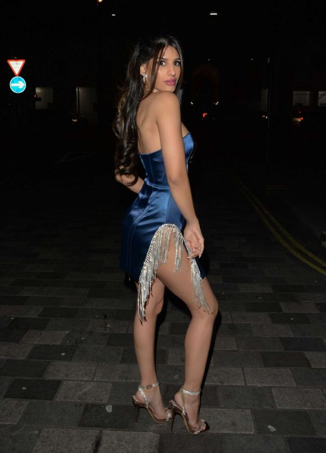 Jasmin Walia Spotted At The Ned Hotel For A Night Out In London
