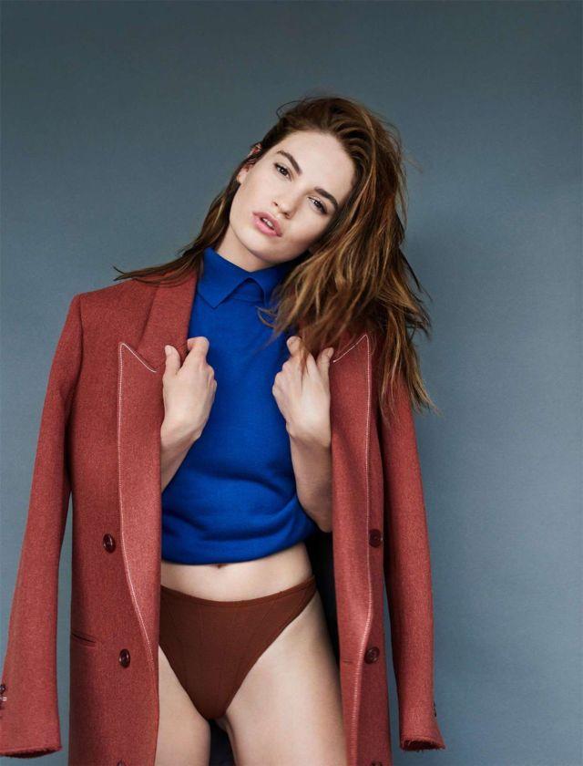 Gorgeous Lily James Glams Up Shape Magazine