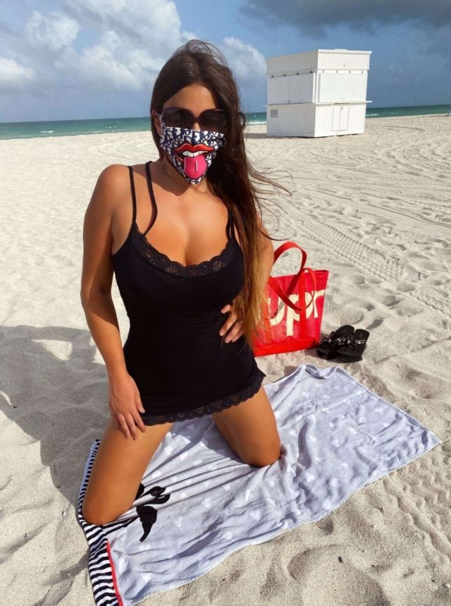 Claudia Romani Shoots For Face Masks By Ben The Rules At Miami Beach