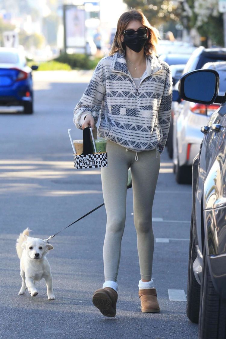 Kaia Gerber Candids In Tights Out In West Hollywood