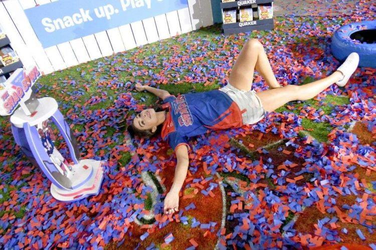 Olivia Culpo Spotted In Shorts At The SHAQ Bowl In Tampa Bay