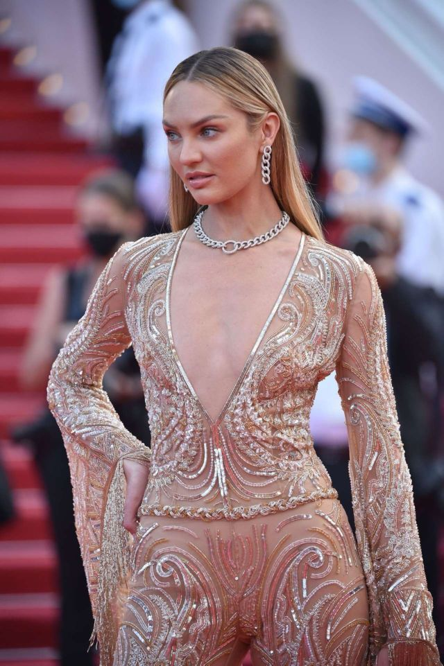 Candice Swanepoel Shines At The Premiere Of 'Annette' In Cannes