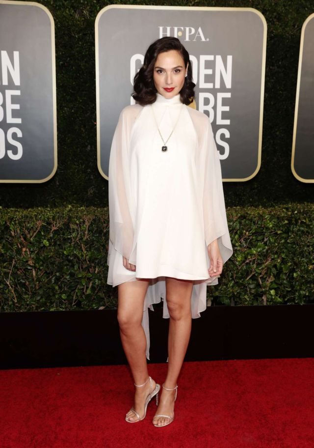 Gal Gadot Shines In White At 78th Annual Golden Globe Awards