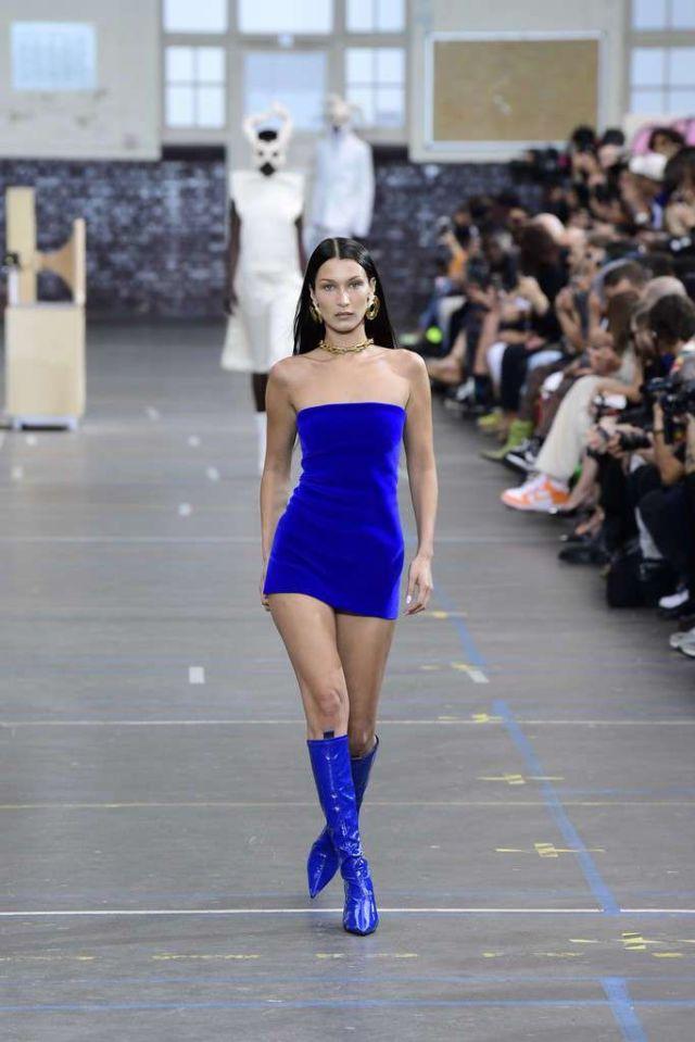 Bella Hadid Walks At Off-White F/W 2021/2022 Show At Paris Fashion Week