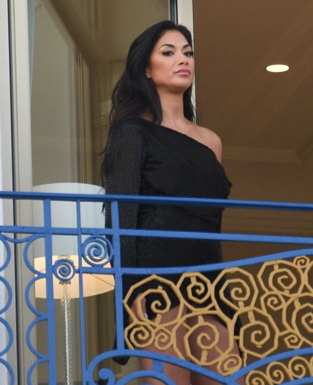 Nicole Scherzinger Photoshoot In A Black Dress At Cannes