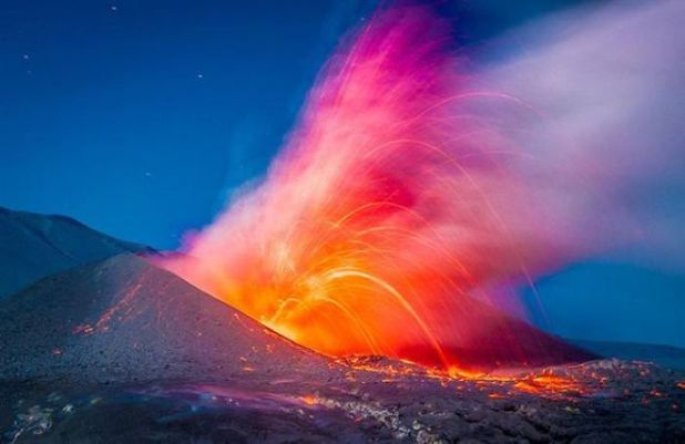 A Daring Photographer Risked His Life To Take Up-Close Photos Of A Volcano Eruption
