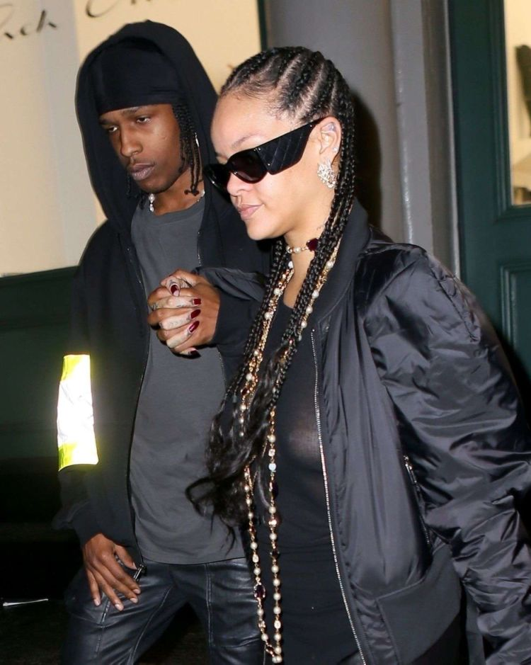 Rihanna Spotted In A Black Outfit In New York