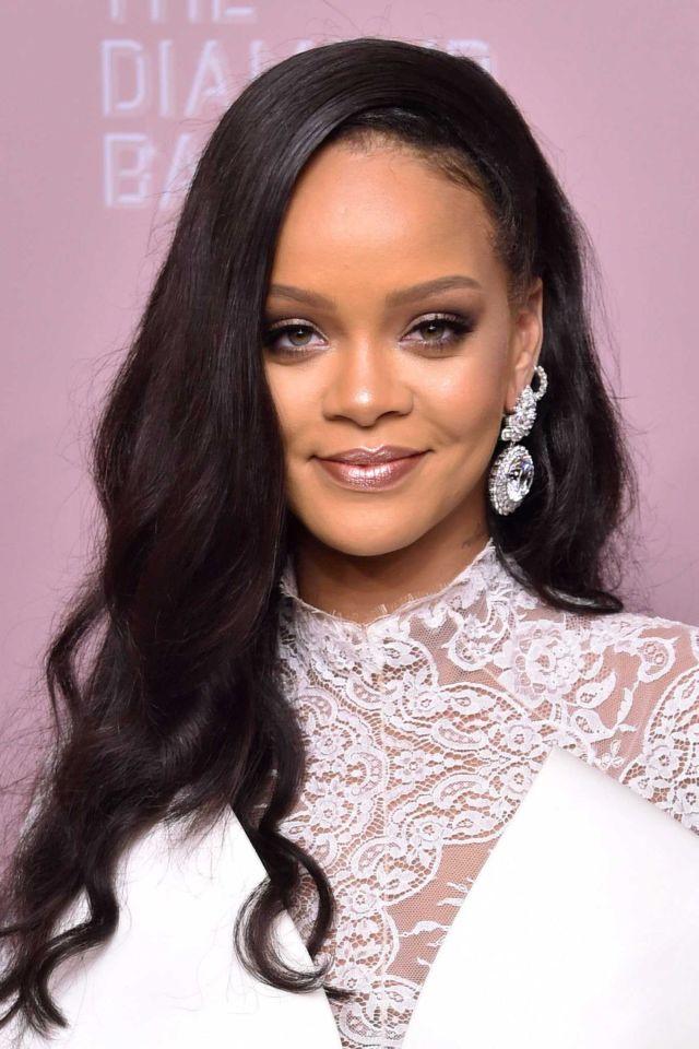 Rihanna Poses At Rihanna's 4th Annual Diamond Ball Event