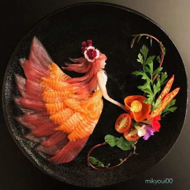 Raw Fish Converted Into Creative Art