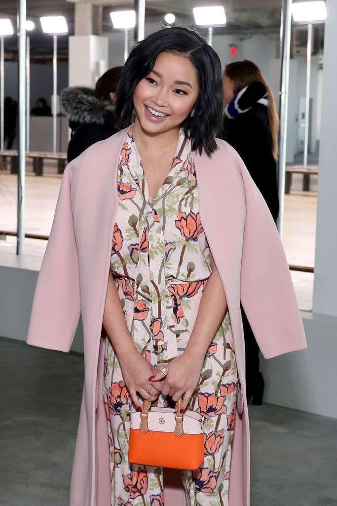 Pretty Lana Condor At Tory Burch Show At NY Fashion Week