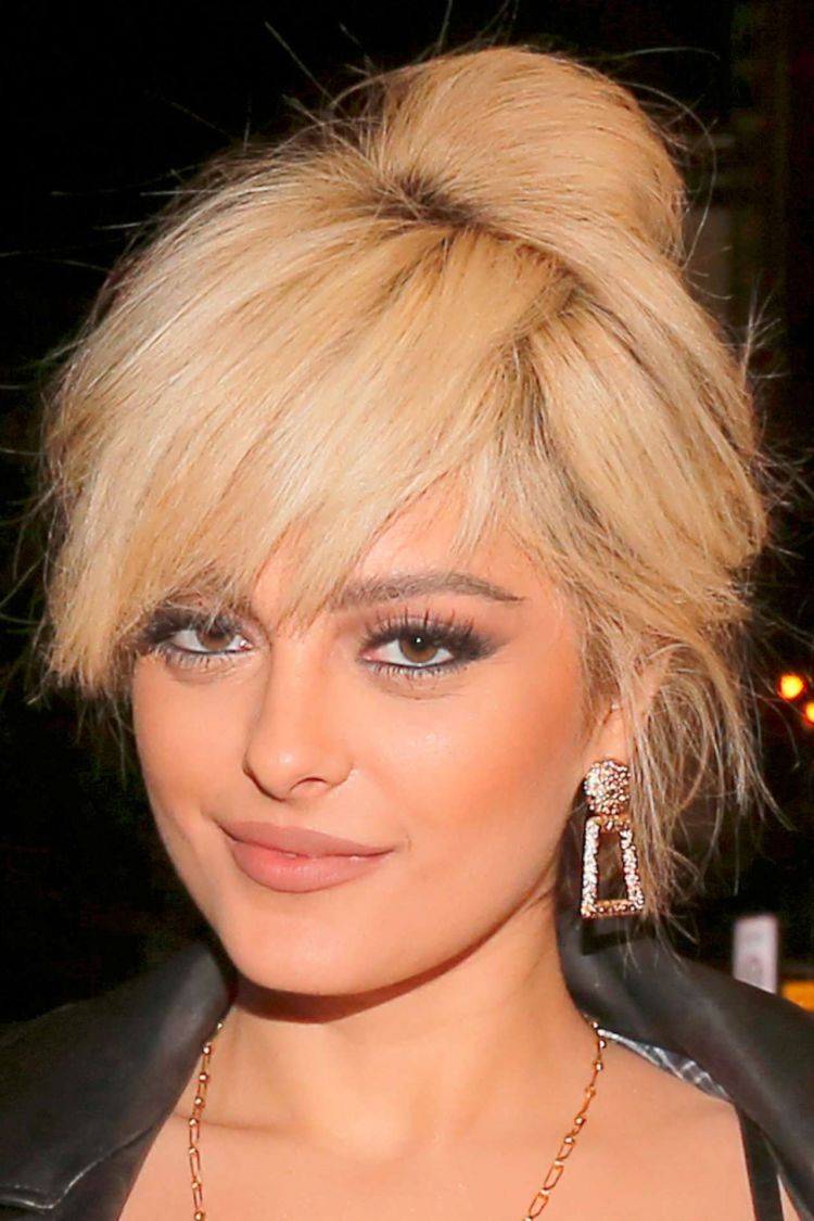 Bebe Rexha In A Black Outfit At The Crazy Horse In Paris