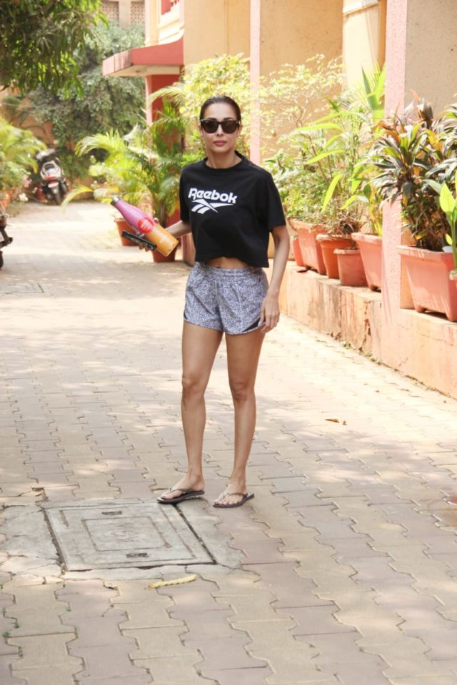 Malaika Arora Heading To Her Gym In Shorts