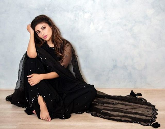 Mouni Roy Looked Gorgeous In Black Sharara For 'Made In China' Promotions