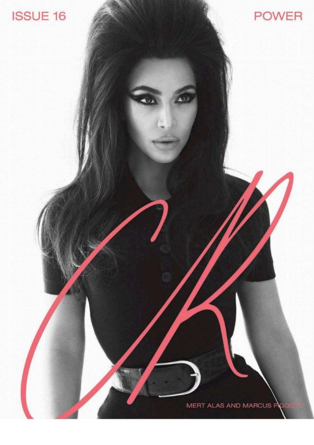 Kim Kardashian's Classic Shoot For CR Fashion Book #16 Spring / Summer 2020