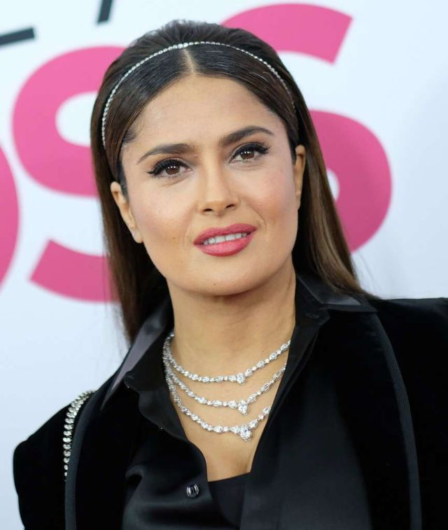 Stunning Salma Hayek At The Premiere Of 'Like A Boss' In New York