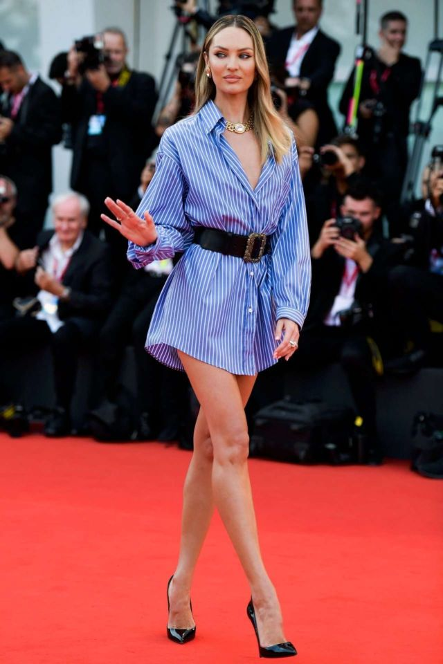 Candice Swanepoel Attends The Premiere Of 'The Perfect Candidate' In Venice