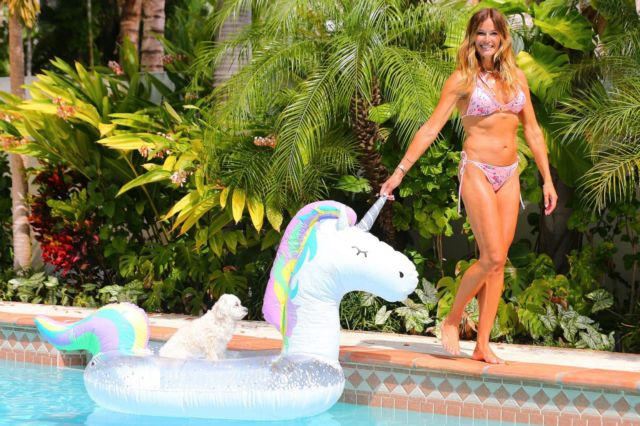 Kelly Bensimon Enjoys Her Vacation In West Palm Beach