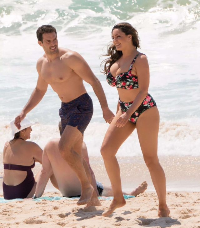 Kelly Brook On A Bikini Vacation At A Beach In Portugal