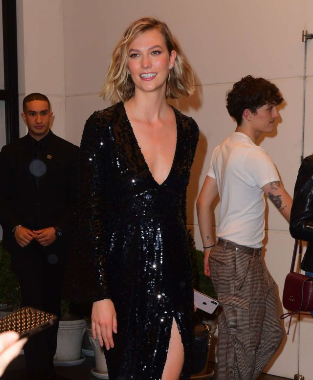 Karlie Kloss Arrives At Harry Josh's Pre Met Gala Party