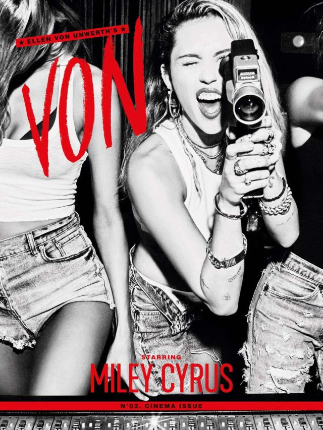 Miley Cyrus Shoots For Von Magazine's May 2019 Issue