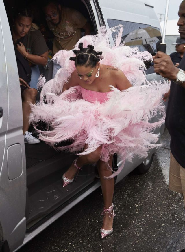 Rihanna In A Crazy Costume At Barbados Kadooment Day Parade
