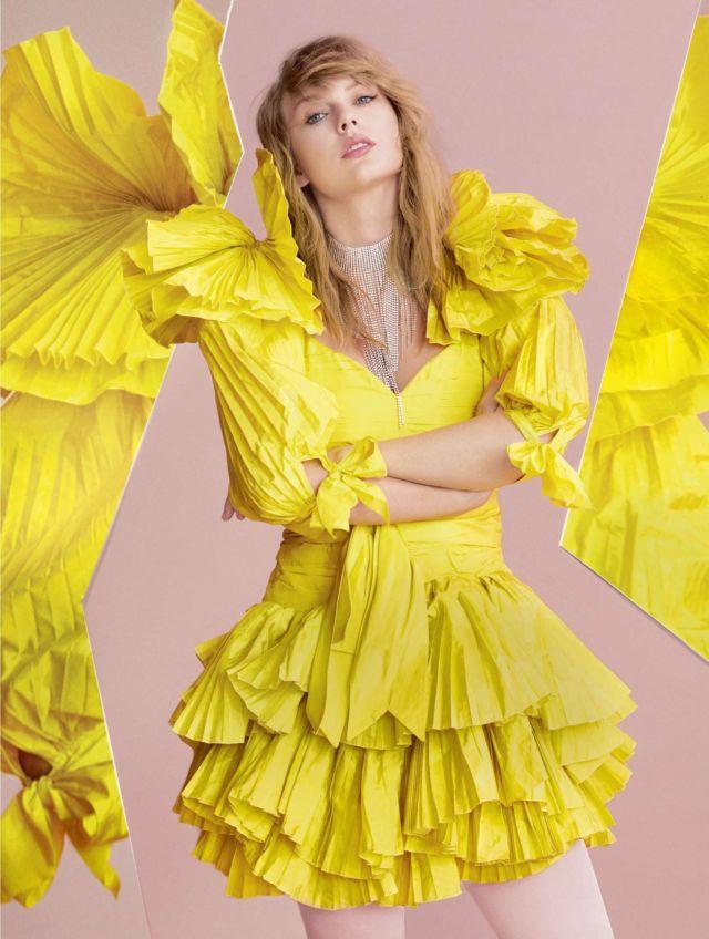 Taylor Swift Glams Up Elle UK Magazine's April 2019 Issue