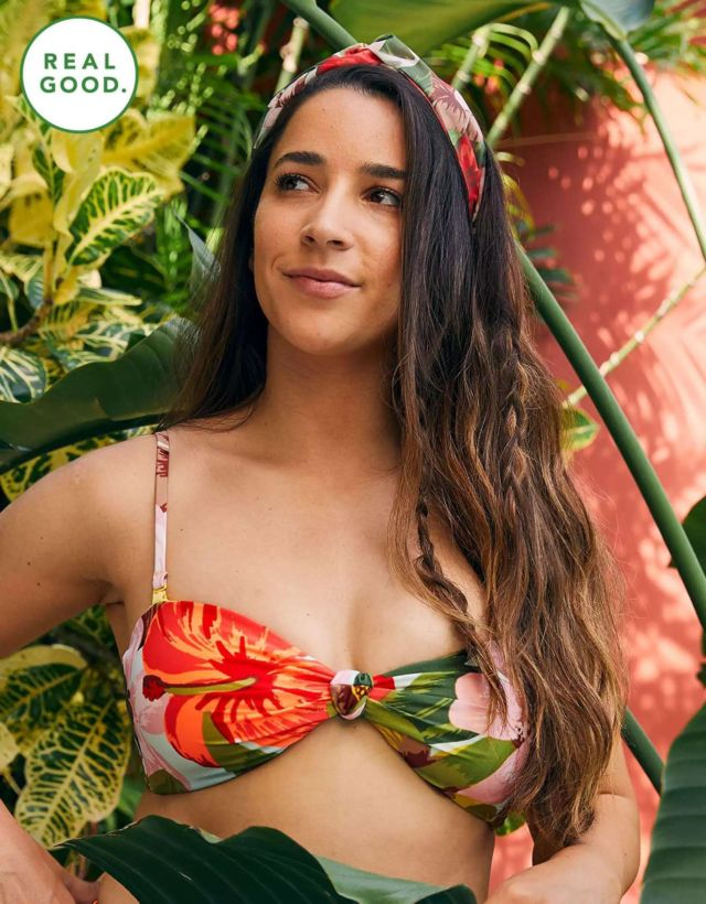 Aly Raisman Shoots For Aerie's Real Good Swimsuit Collection 2020