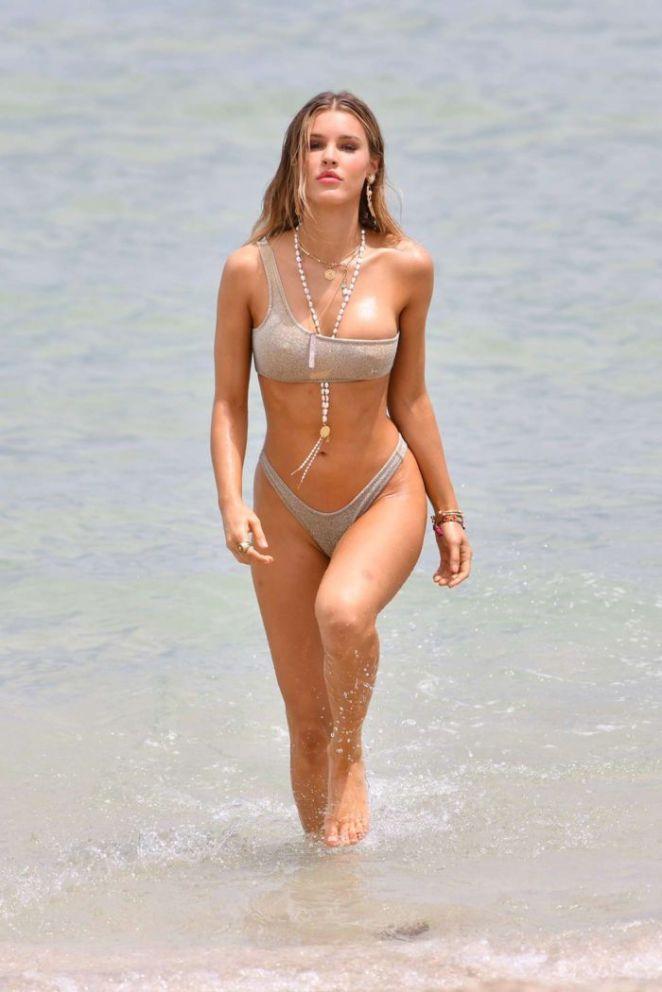Joy Corrigan Poses For A Lingerie Photoshoot On Miami Beach