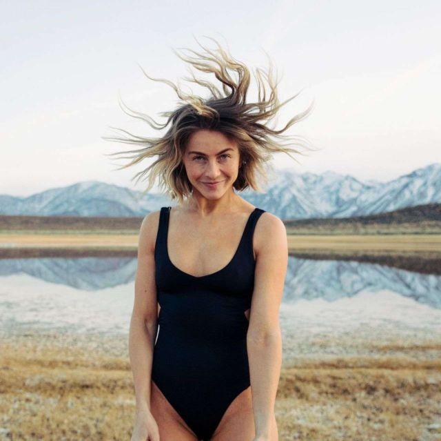 Julianne Hough In A Black Swimuit For Knrgy 2020