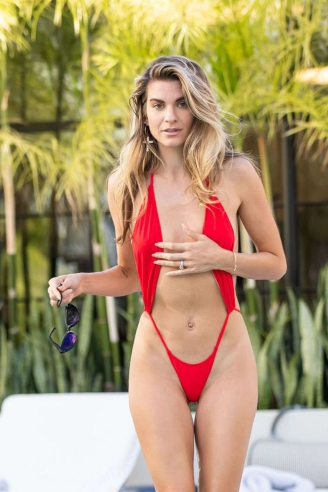 Rachel McCord And Christy Powers Together At A Swimming Pool In Bikinis