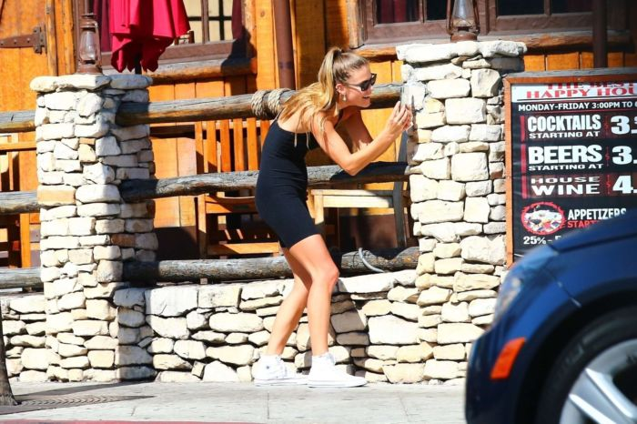 Nina Agdal Running Out And About In West Hollywood