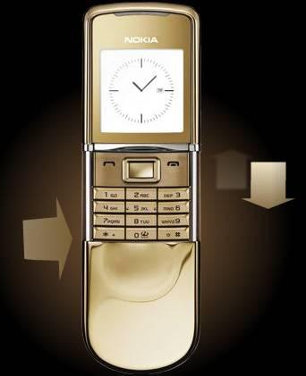 Nokia 8800 Sirocco Gold Phone