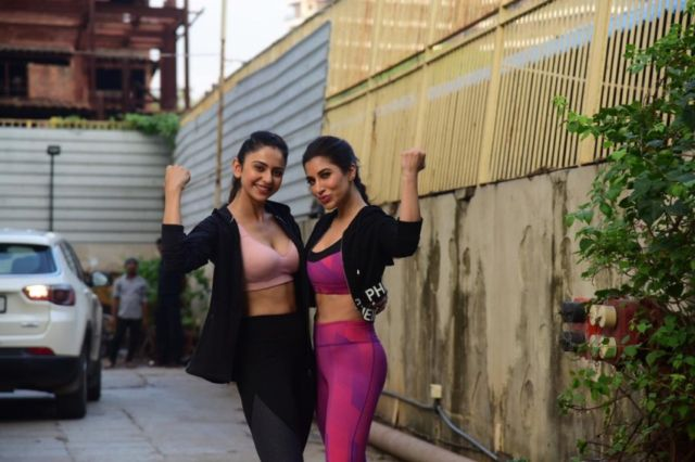 Rakul Preet Singh & Sophie Choudry Spotted Together At The Gym