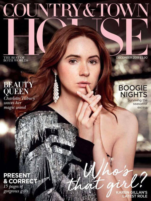 Karen Gillan Featured In Country And Town House Magazine (December 2019)