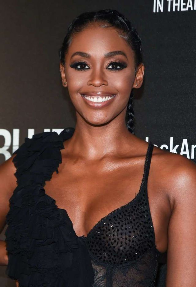 Nafessa Williams Attends The Screening Of 'Black And Blue In New York