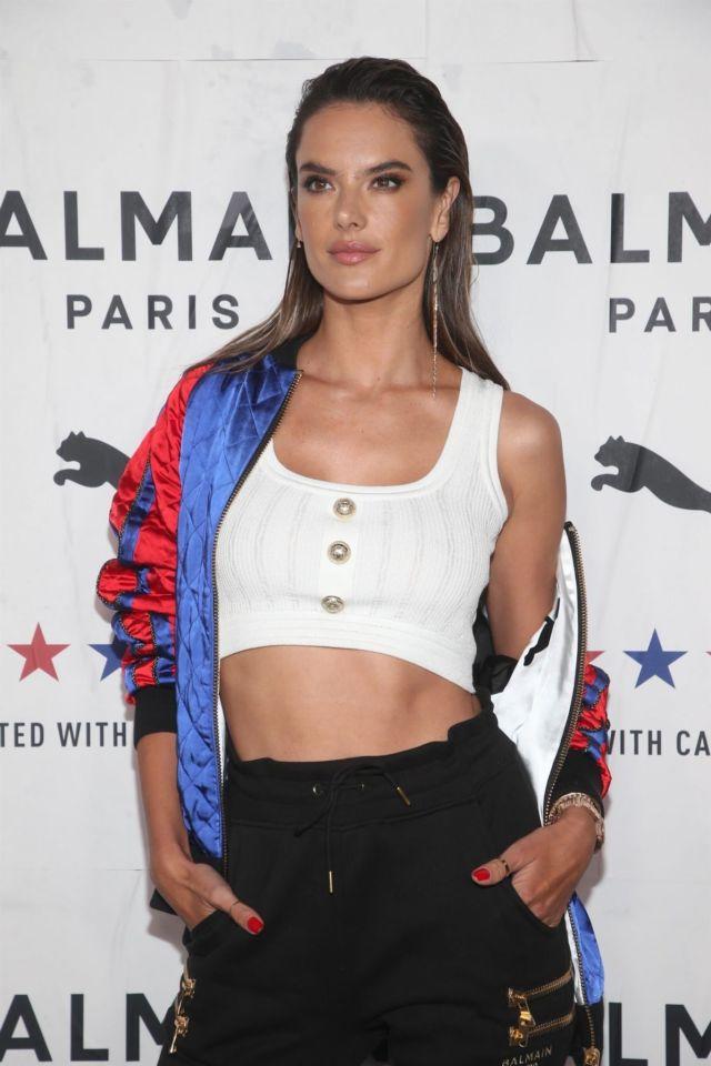 Stylish Alessandra Ambrosio At PUMA x Balmain Launch Event