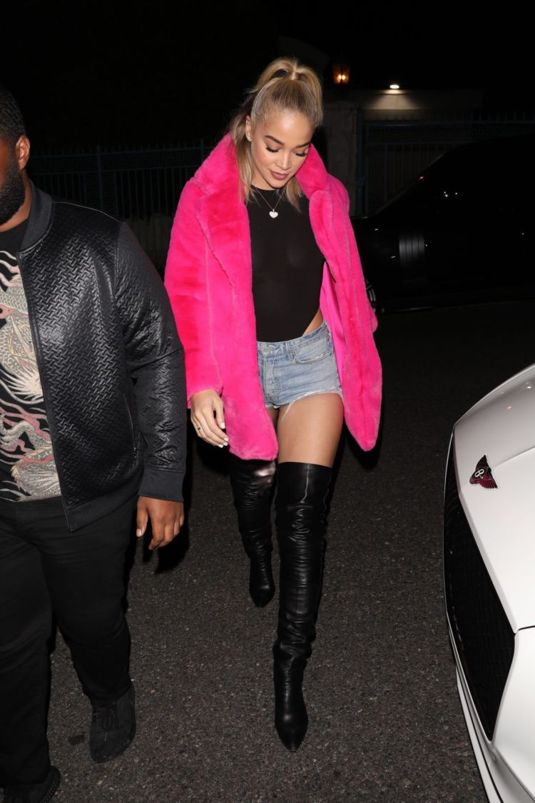 Jasmine Sanders Spotted Leaving Paris Hilton's 39th Birthday Bash