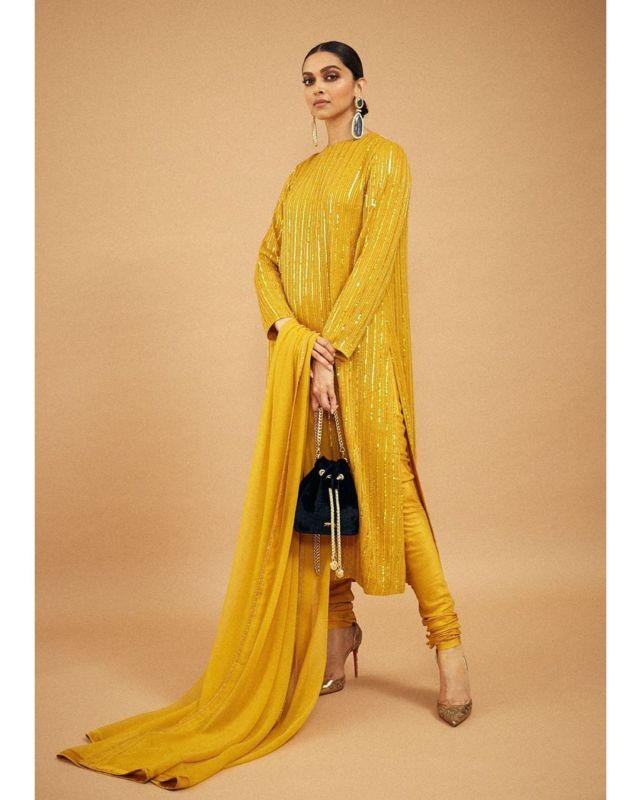 Deepika Padukone Looks Stunning In Mustard