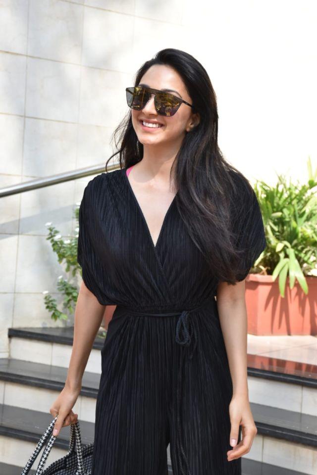 Kiara Advani Candids In A Black Jumpsuit