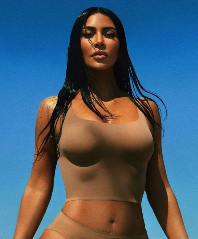 Kim Kardashian Unveils Her New Swimwear Collection