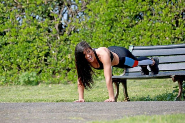 Stunning Lydia Clyma Candids In Gym Outfit While Working Out In London