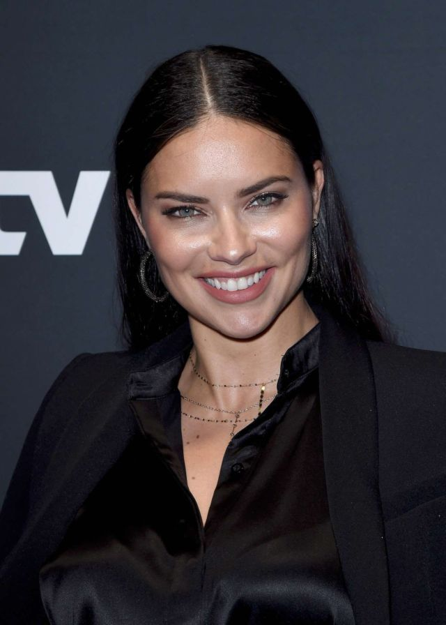 Stunning Adriana Lima In Black At AT&T Super Saturday Night Party