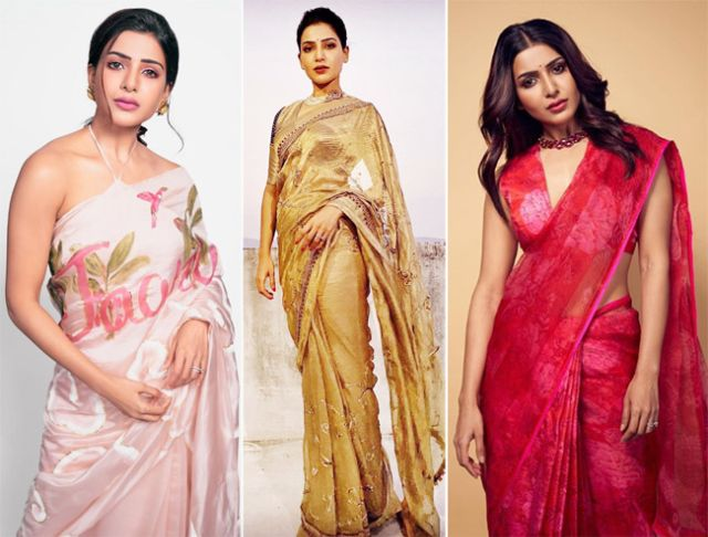 Samantha Akkineni's Breathtaking Pictures In Saree