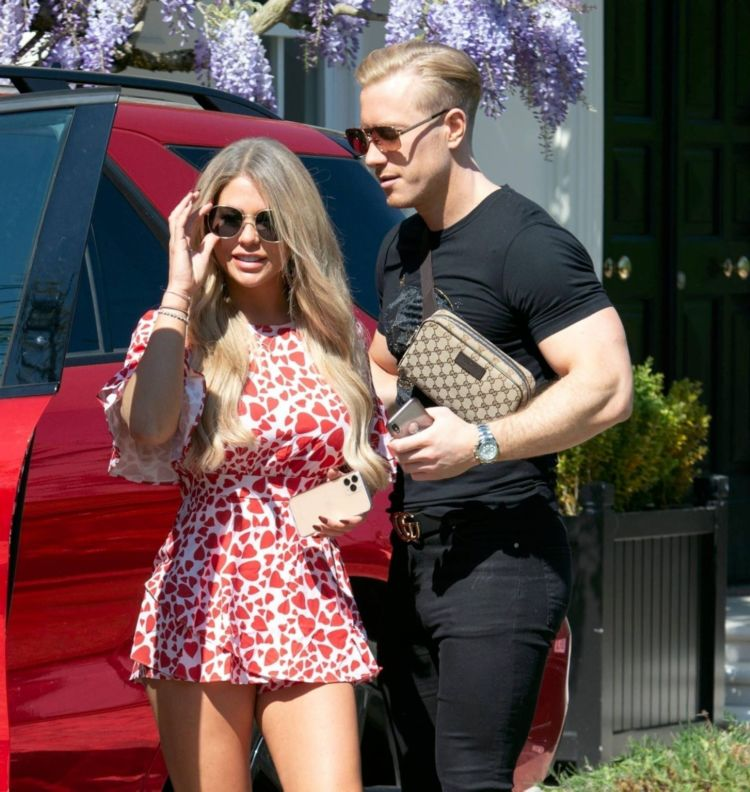 Bianca Gascoigne Candids In A Floral Dress Out In London