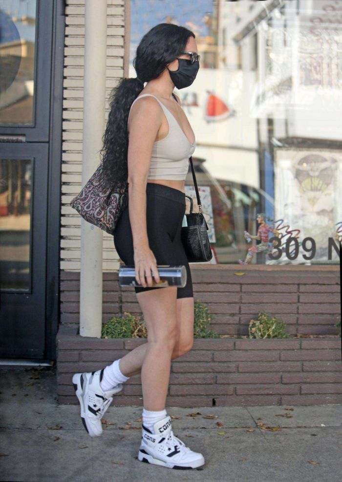 Rumer Willis Candids In Shorts At 'Hair By Violet' In Beverly Hills