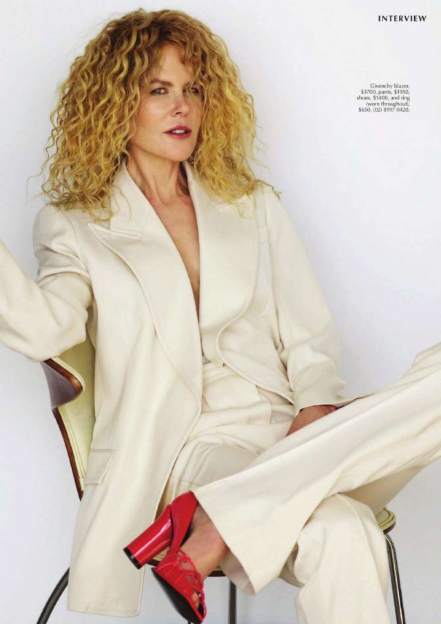 Nicole Kidman Glams Up Marie Claire Australia Magazine
