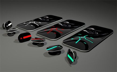 Digital MP3 Player Concept with Wireless Stereo HeadSet